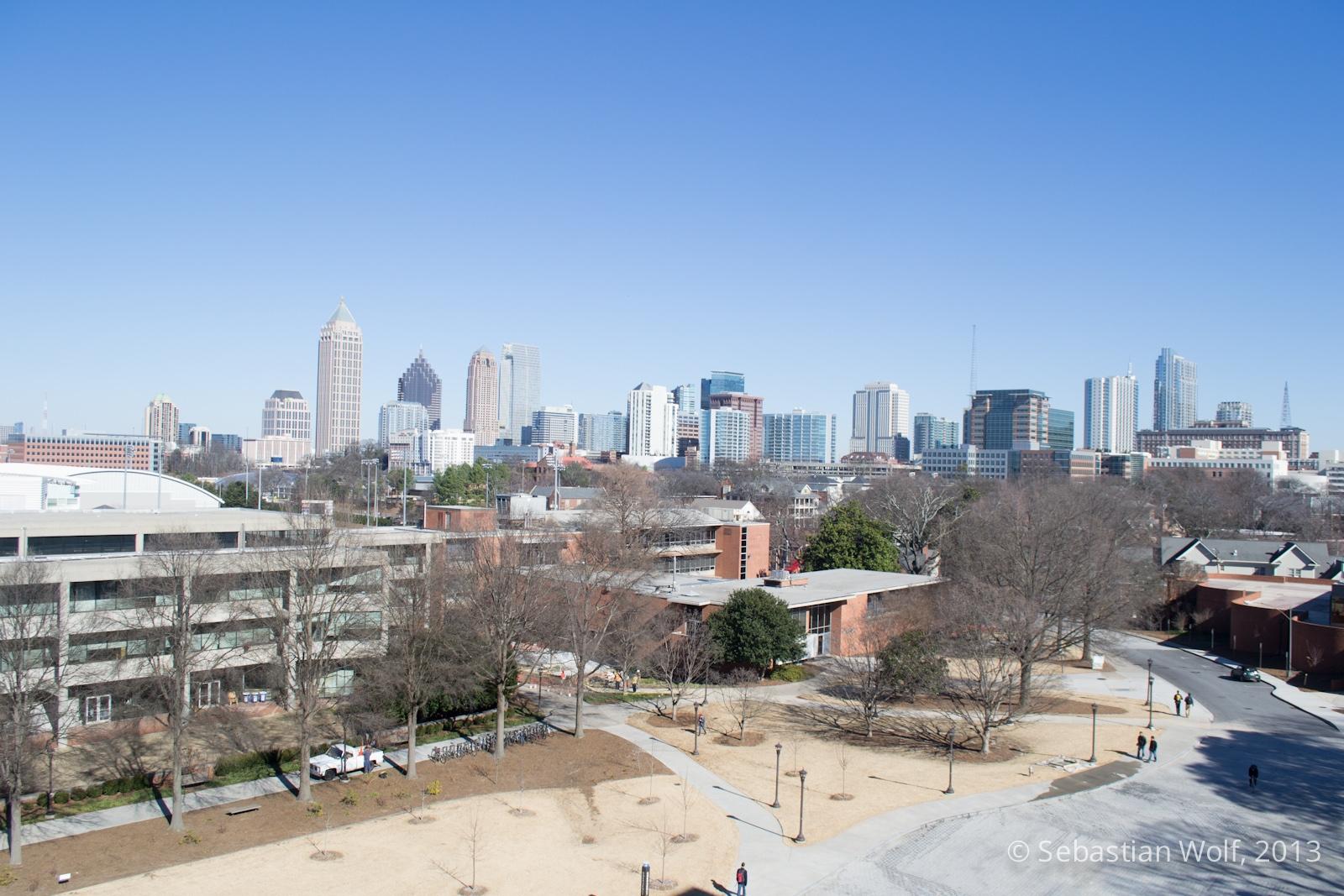 Blick von oben auf Midtown
