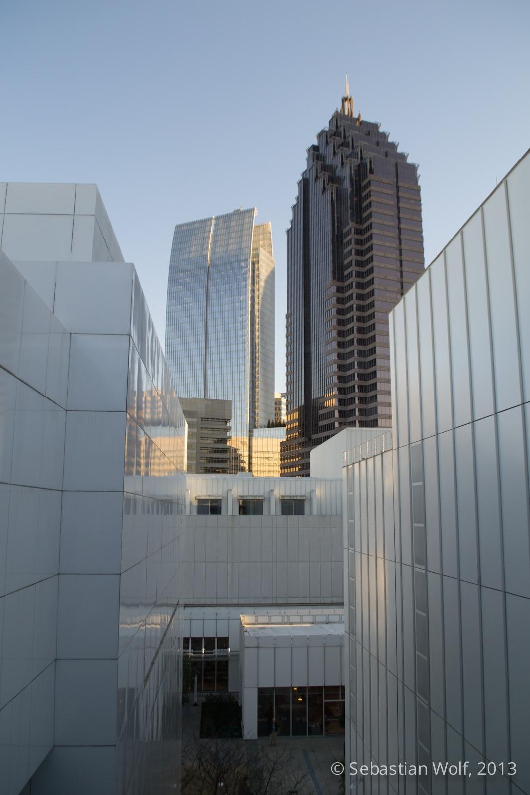 Blick vom High Museum of Arts auf Midtown