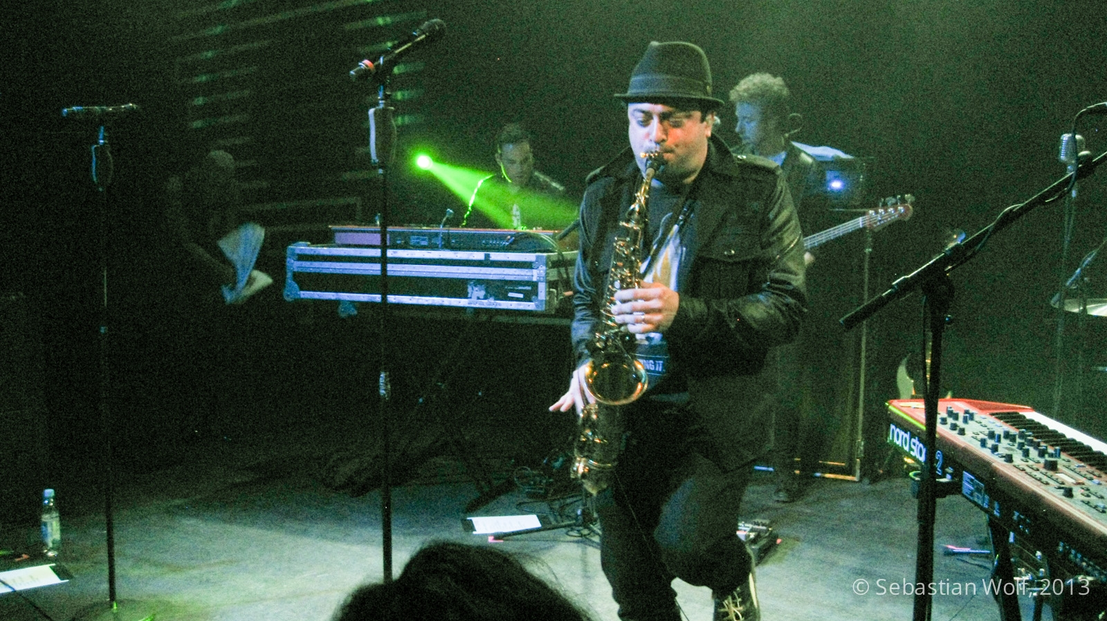 James King playing Saxophone