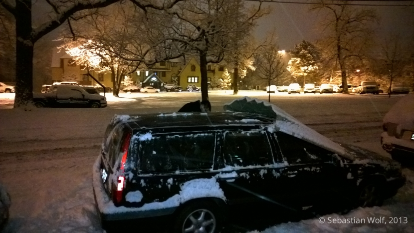 Der Volvo und der Schnee