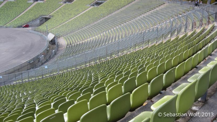 Blick ins Olympiastadion