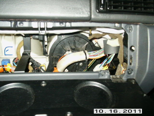 Glove Box with blower motor