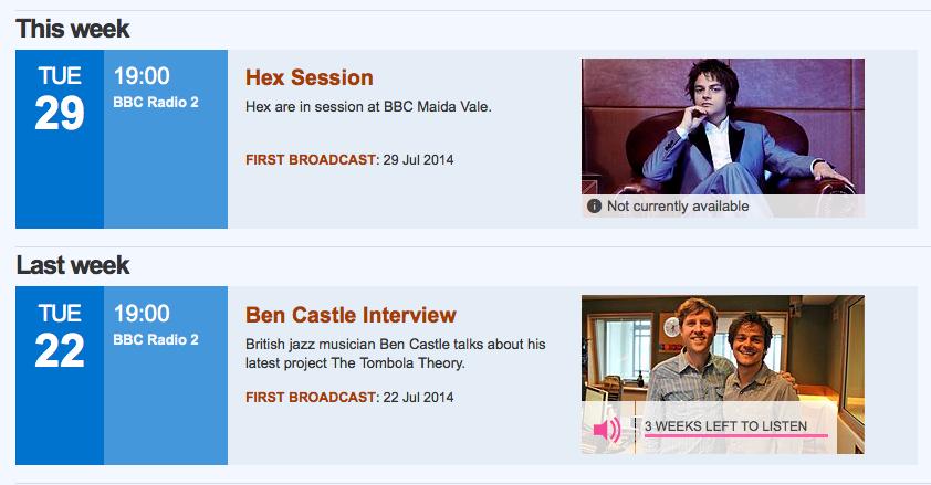 Jamie Cullum BBC Radio Show