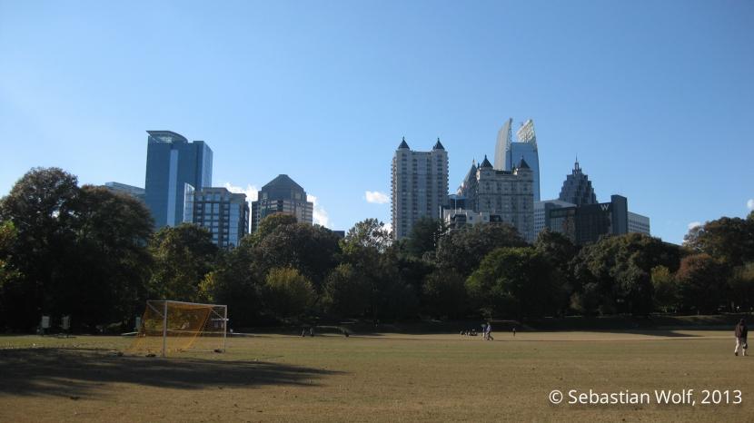 Atlanta Midtown from Piemont Park