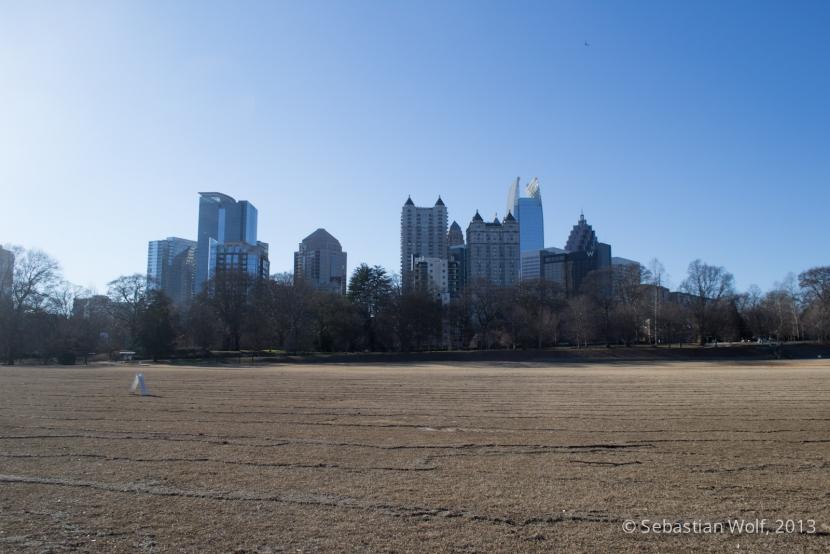 Blick von Piemont Park auf Midtown