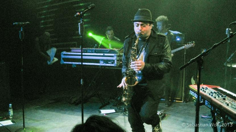 James King playing Saxophone