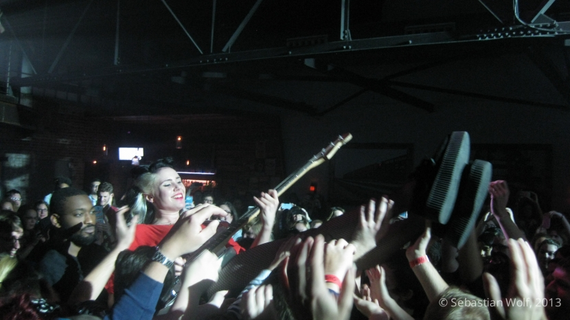 Kate Nash crowd surfing