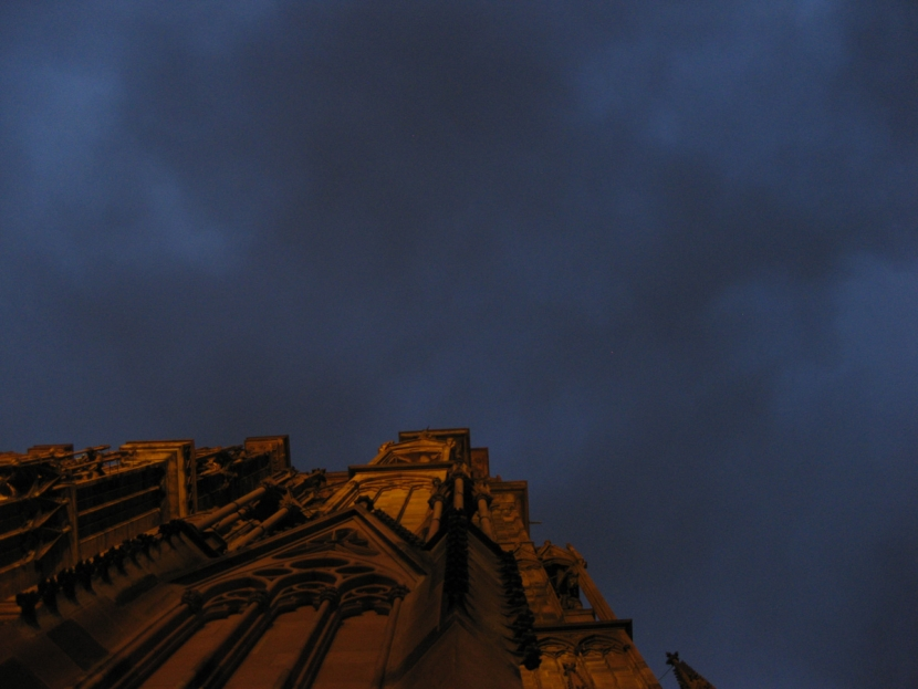 Strasbourger Münster nachts